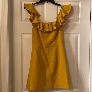 French Connection Yellow Off-the-Shoulder Dress